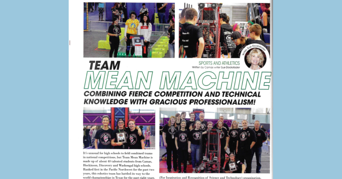 Robotics team featured in Camas Life magazine